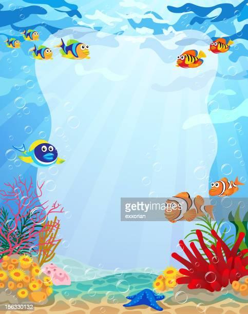 En el mar para presentación con espacio de copia