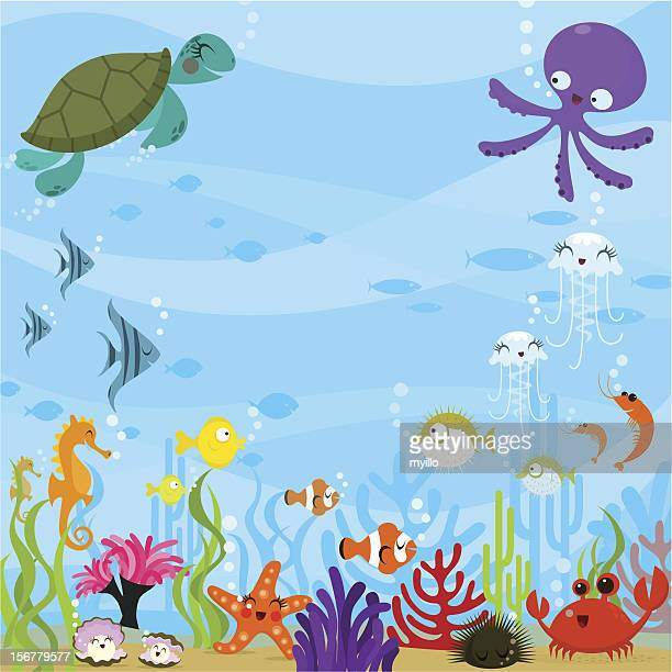 under the sea - fish stock illustrations