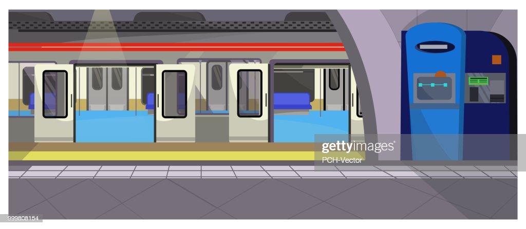 Underground stop vector illustration