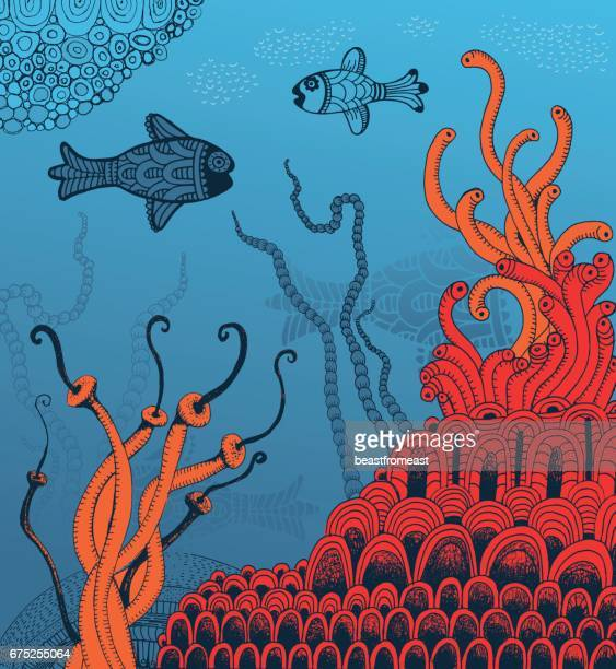 Undersea world of fish and corrals