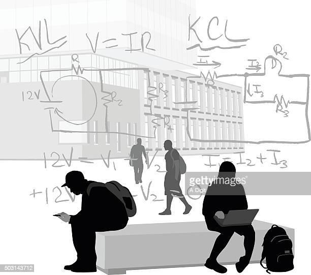 ilustrações de stock, clip art, desenhos animados e ícones de compreender a conservação de energia - patio de colegio