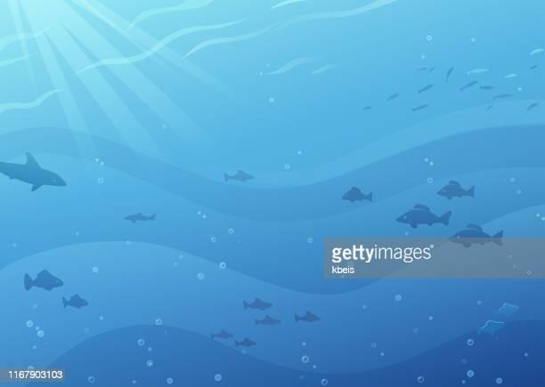 水中背景 - 水に飛び込む点のイラスト素材/クリップアート素材/マンガ素材/アイコン素材