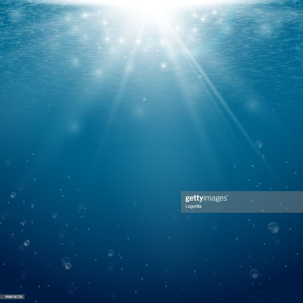 Underwater background with light coming from the surface