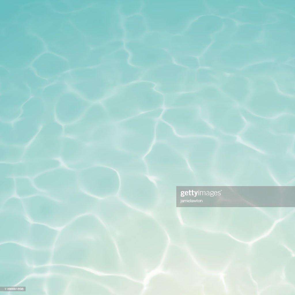 Unterwasserhintergrund mit Ripples und Reflexionen : Stock-Illustration