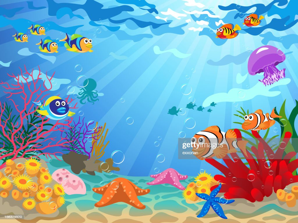Underwater Scene with Sea Life
