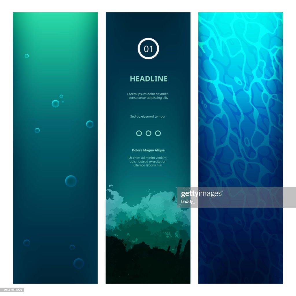Underwater View Blue Background