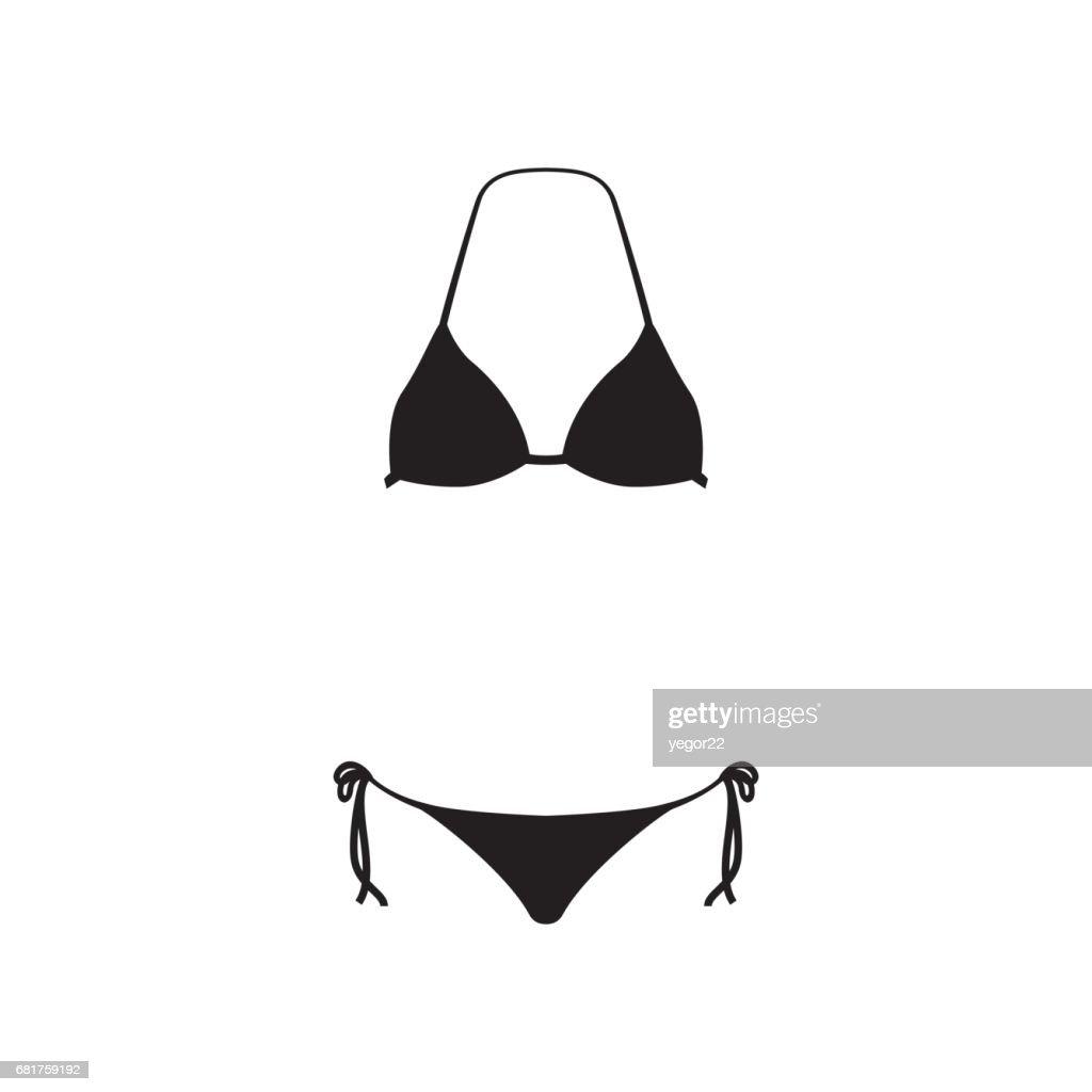 Underwear icon. Swimsuit