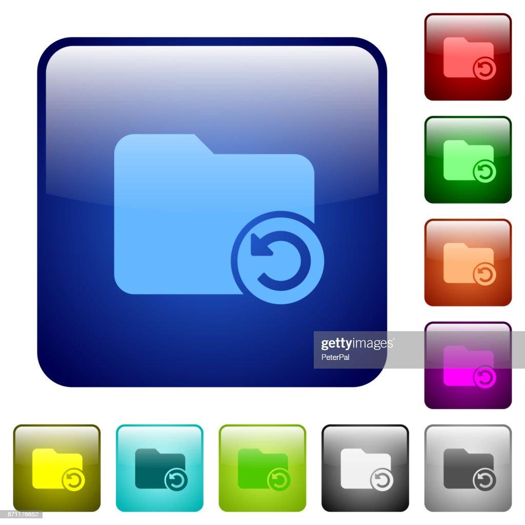 Undo directory last operation color square buttons