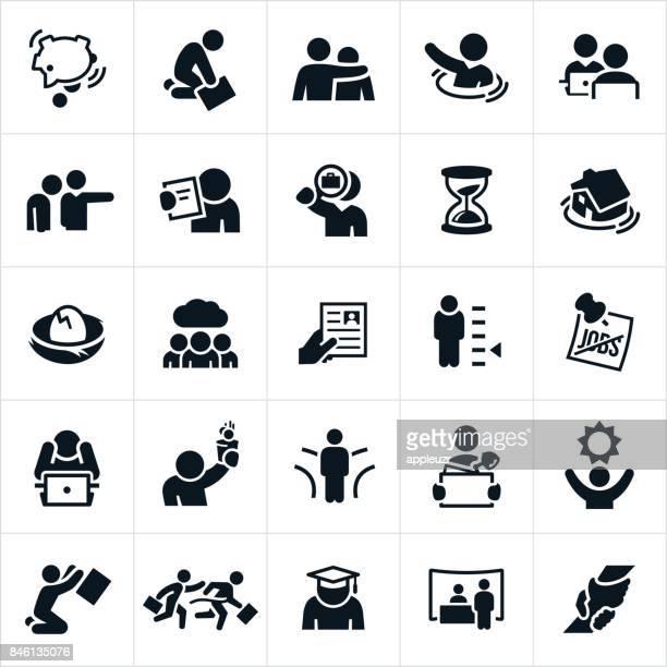 Arbeitslosigkeit-Symbole