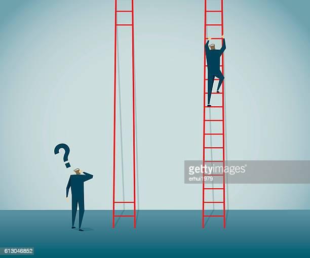unfair - ladder stock illustrations, clip art, cartoons, & icons