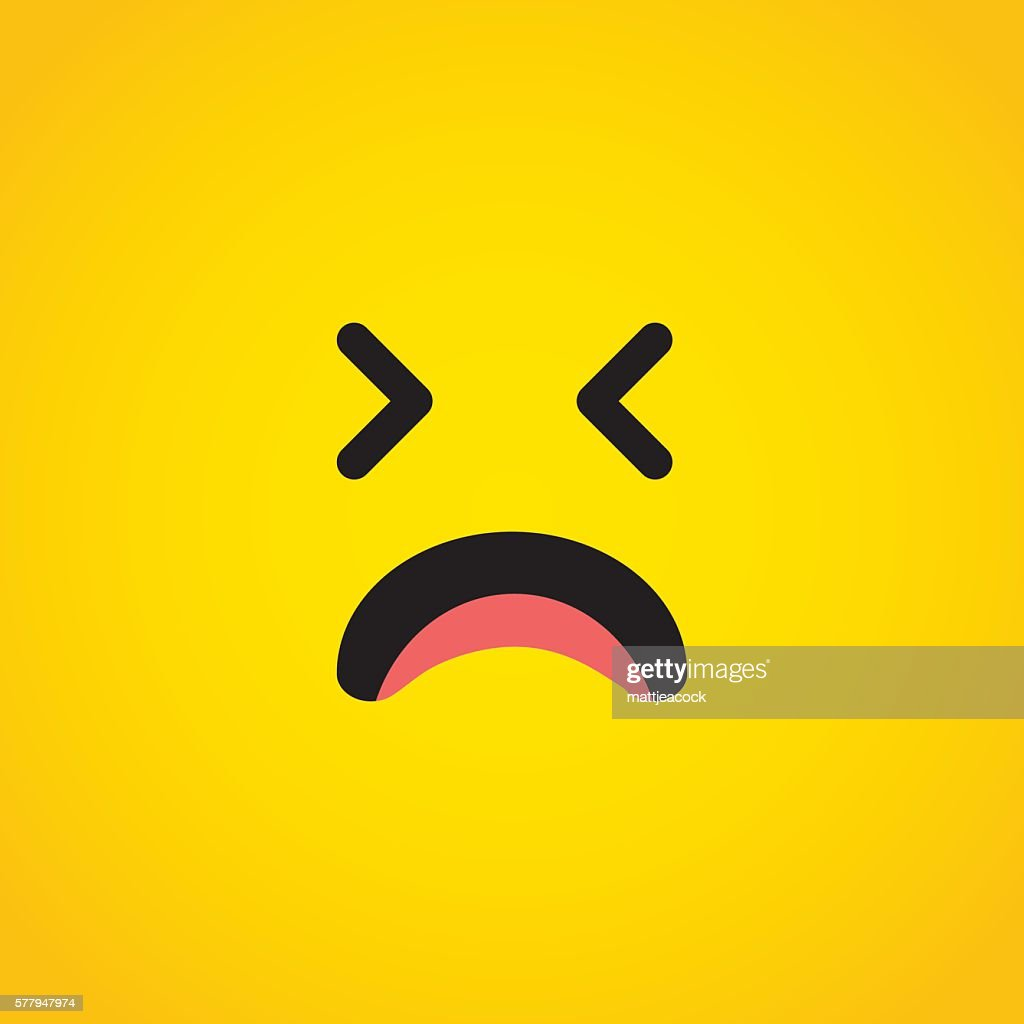 Unhappy emoji character face