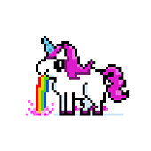 Unicorn barfing rainbow