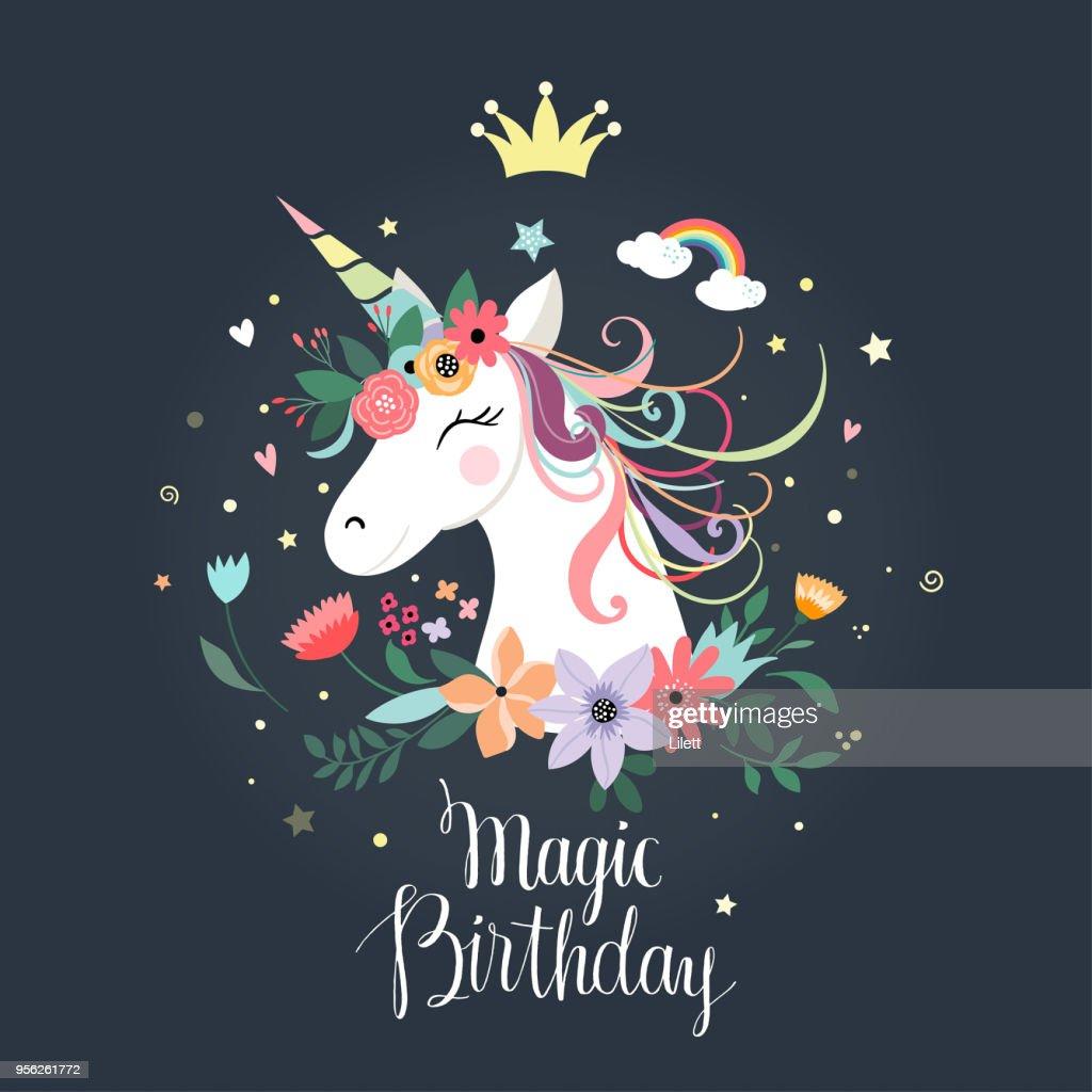 Unicorn birthday card