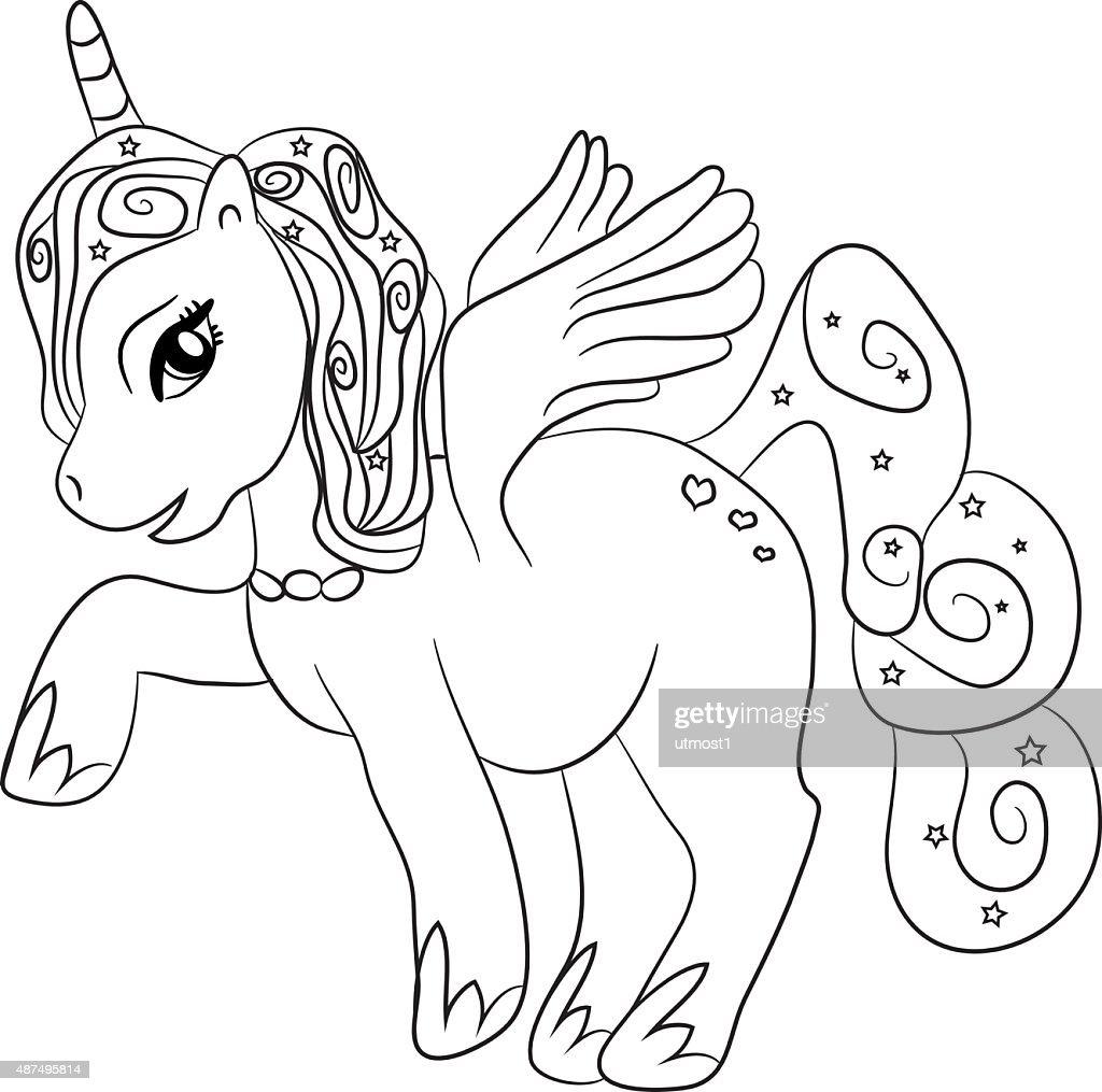 Increíble Unicornio Miserable Para Colorear Colección - Dibujos Para ...