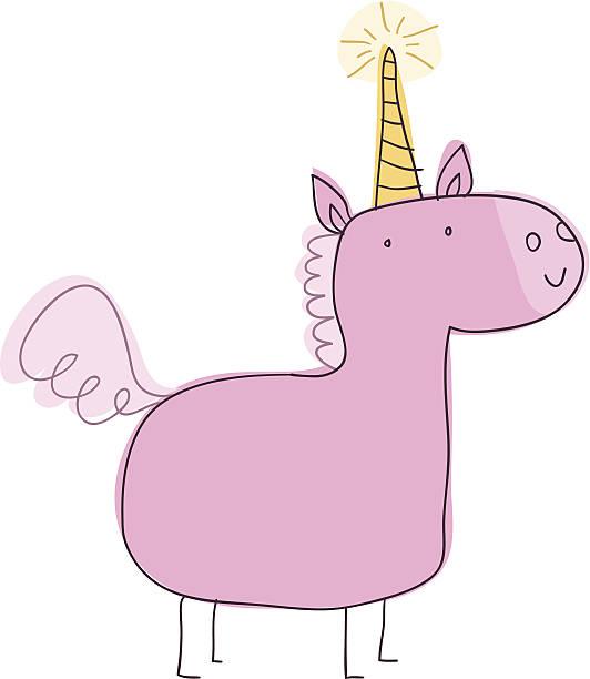 unicorn doodle - unicorn stock illustrations