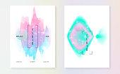 Unicorn flyer. Kawaii rainbow hologram. Princess holographic gra