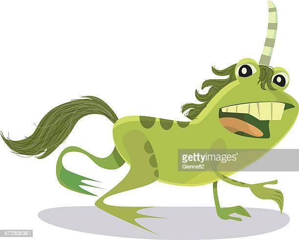 unicorn frog - unicorn horn stock illustrations, clip art, cartoons, & icons