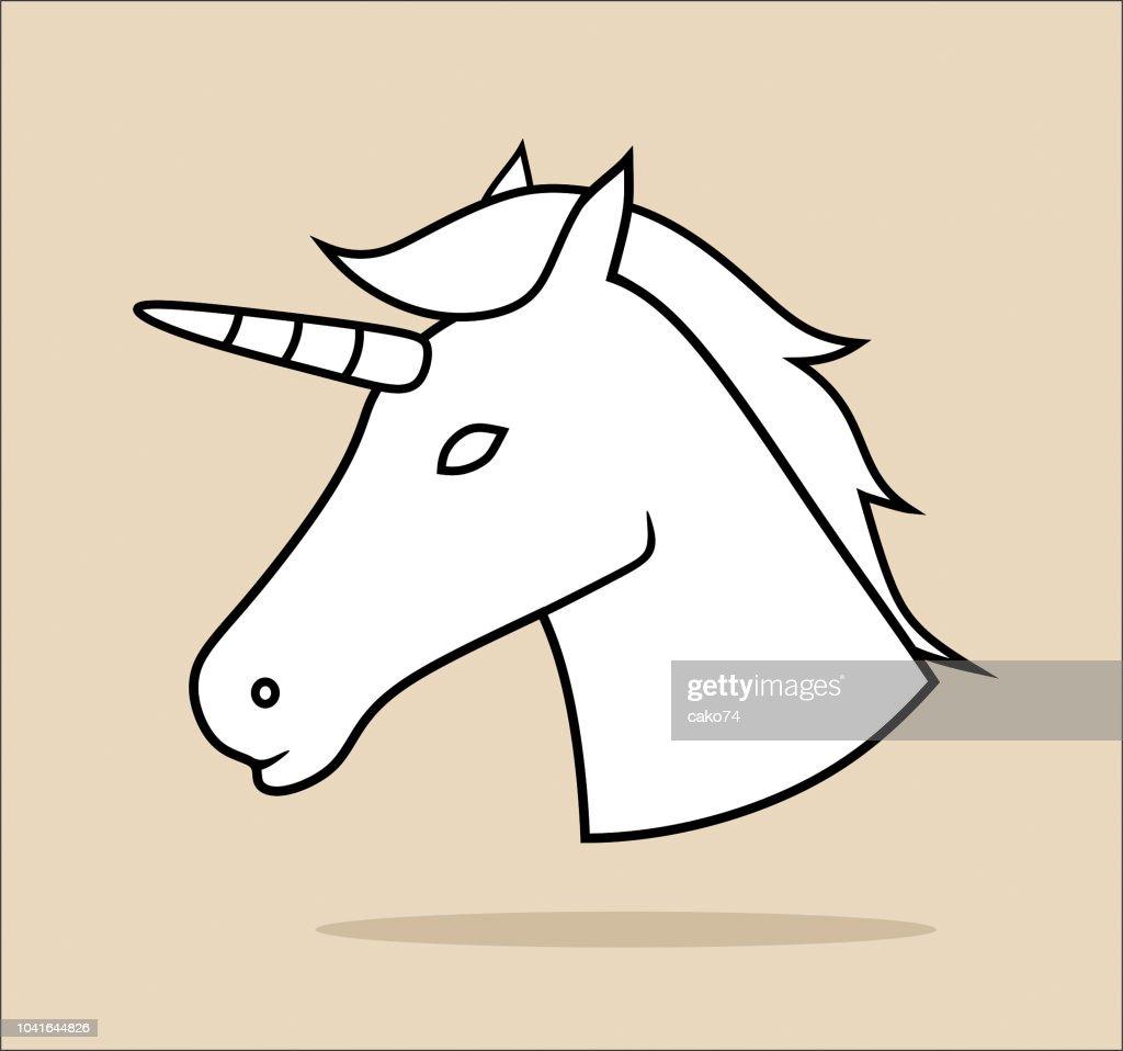 Unicorn icon : stock illustration