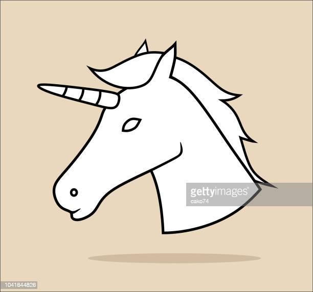 unicorn icon - animal mane stock illustrations, clip art, cartoons, & icons