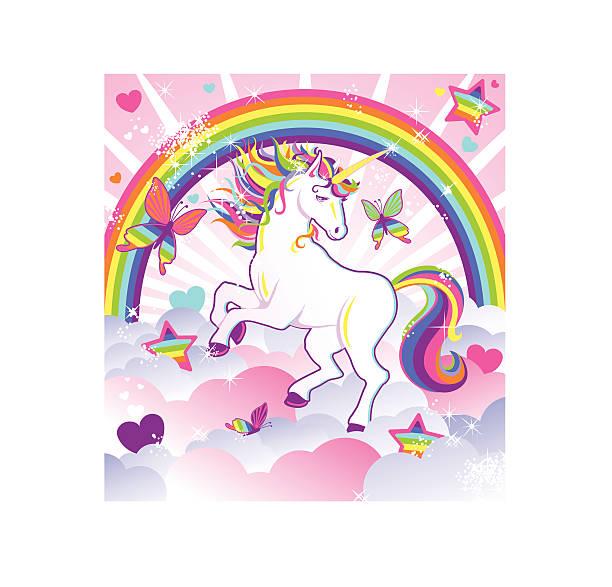 unicorn magic - unicorn stock illustrations