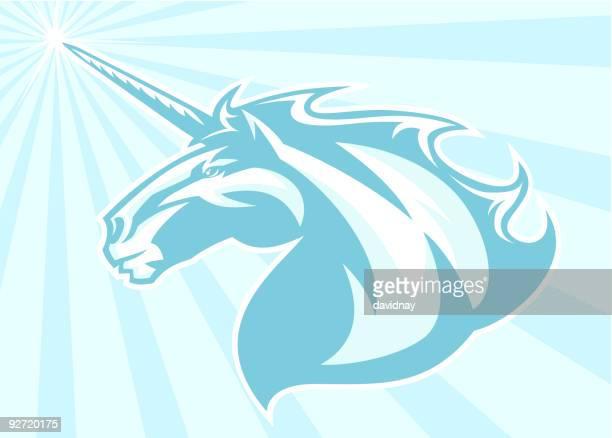 unicorn mascot - mare stock illustrations, clip art, cartoons, & icons
