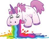 unicorn puking rainbow