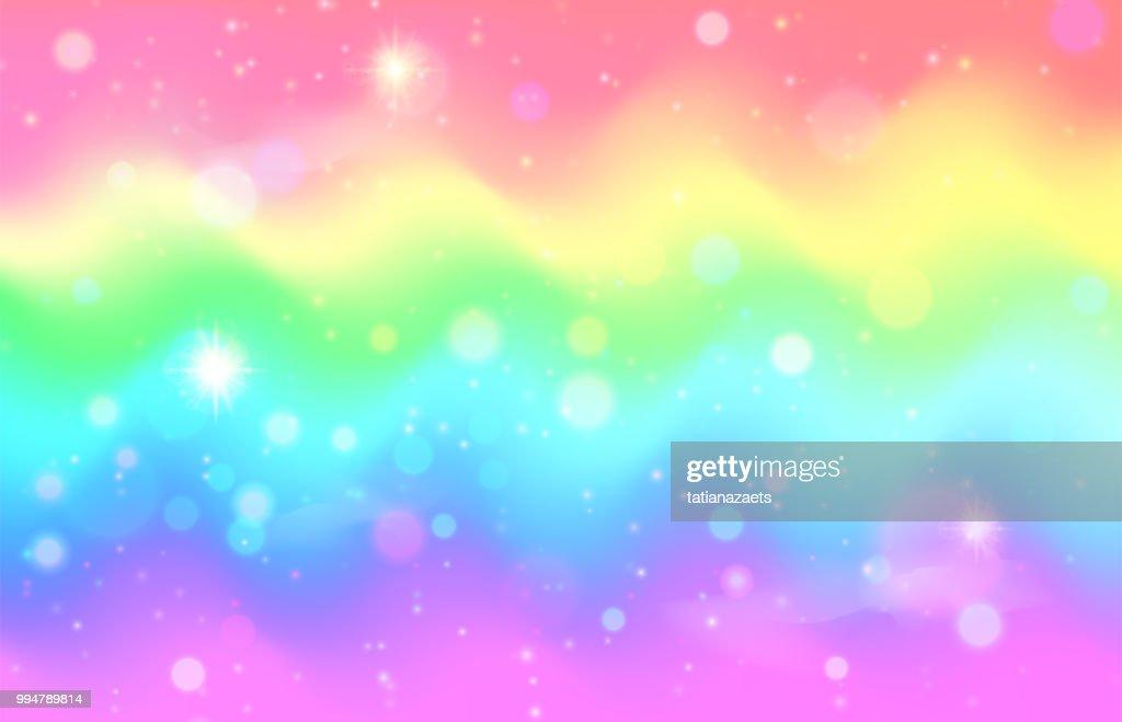 Unicorn rainbow wave background. Mermaid galaxy pattern