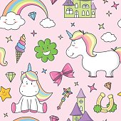 unicorn seamless pattern