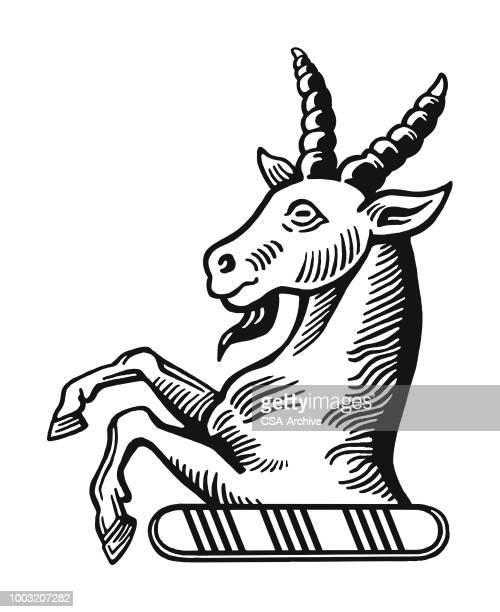 illustrations, cliparts, dessins animés et icônes de licorne - ram animal