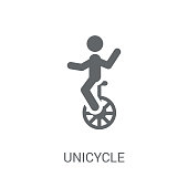 Unicycle icon. Trendy Unicycle logo concept on white background from Circus collection