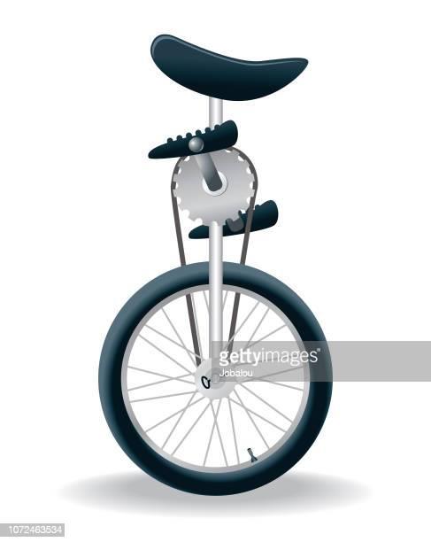 unicycle single juggling vehicle - unicycle stock illustrations, clip art, cartoons, & icons