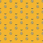 Unicycle Transportation Seamless Pattern