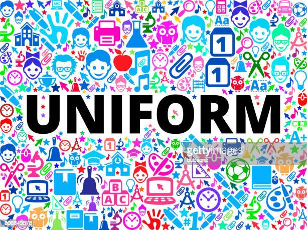 uniform school and education vector icon background - school uniform stock illustrations, clip art, cartoons, & icons