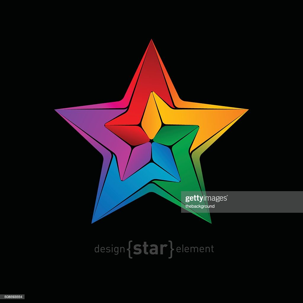 unimaginable vector colorful star : Vector Art