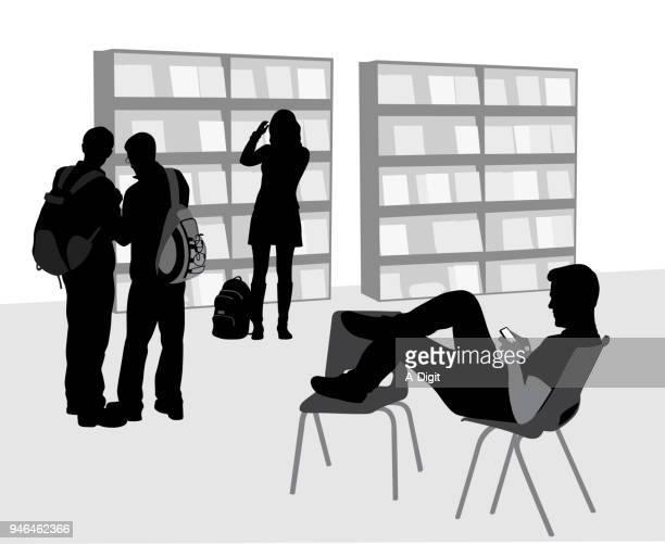ilustraciones, imágenes clip art, dibujos animados e iconos de stock de estudiante - adulto joven