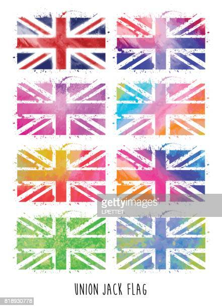ilustraciones, imágenes clip art, dibujos animados e iconos de stock de bandera union jack - bandera del reino unido