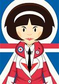 Union Jack Jacket Mod Girl