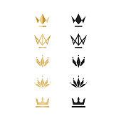 Unique Crown logo, illustration, vector