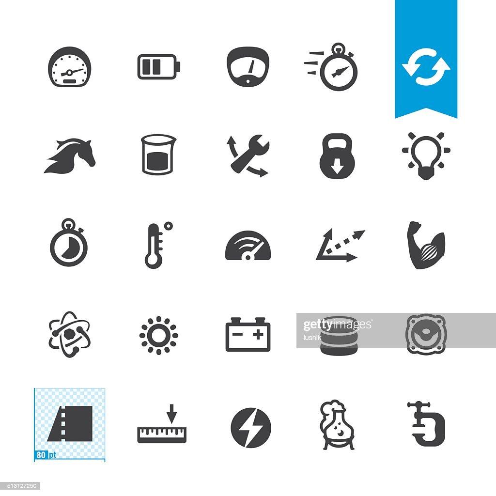 Unit Converter vector icons : stock illustration