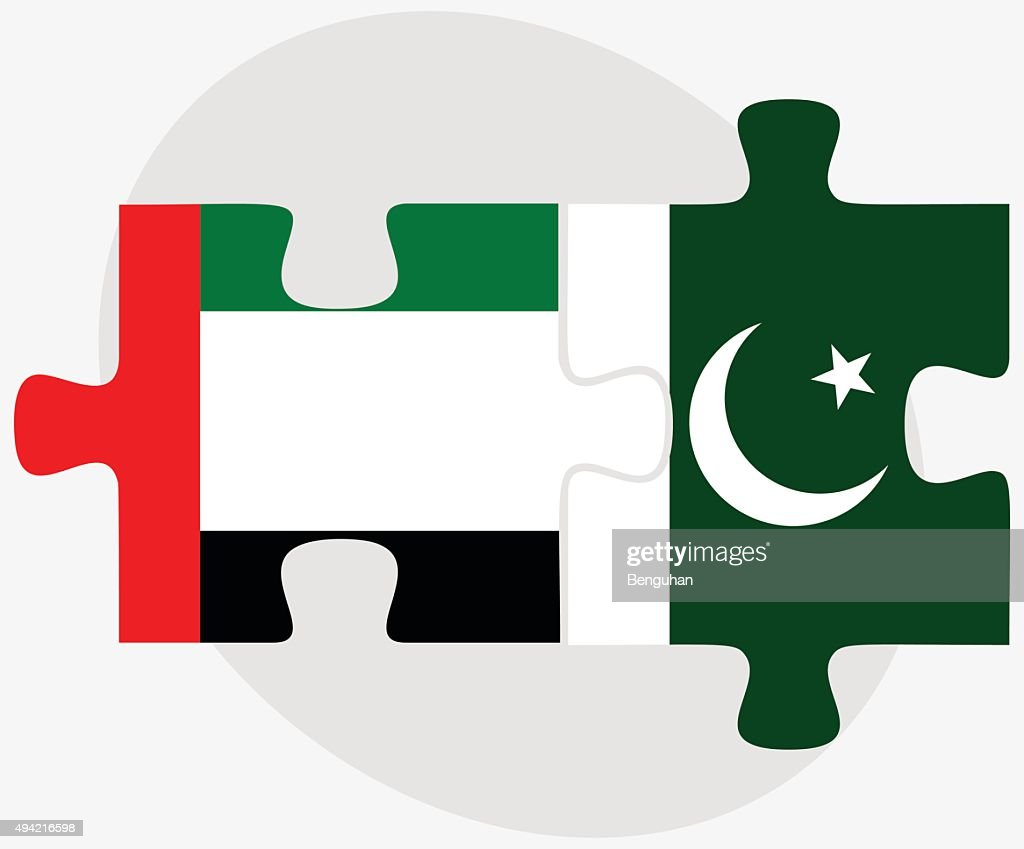 United Arab Emirates and Pakistan Flags