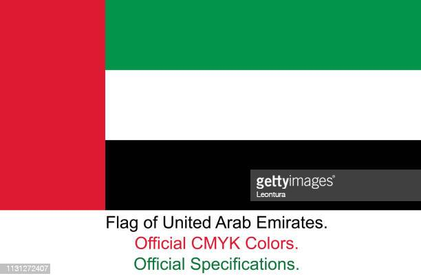 United Arab Emirates Flag (Official CMYK Colours and Specifications)