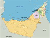 United Arab Emirates - Highly detailed editable political map