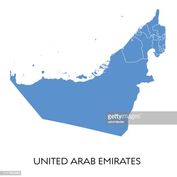 karte der vereinigten arabischen emirate - vereinigte arabische emirate stock-grafiken, -clipart, -cartoons und -symbole