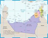 United Arab Emirates Map - Vector Illustration