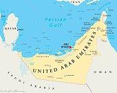 UAE United Arab Emirates Political Map