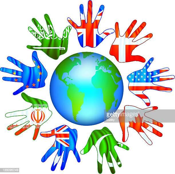 ilustraciones, imágenes clip art, dibujos animados e iconos de stock de unidas en todo el mundo - diversidad cultural