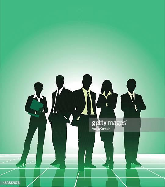 United negócios equipe de empresários e Businesswomen