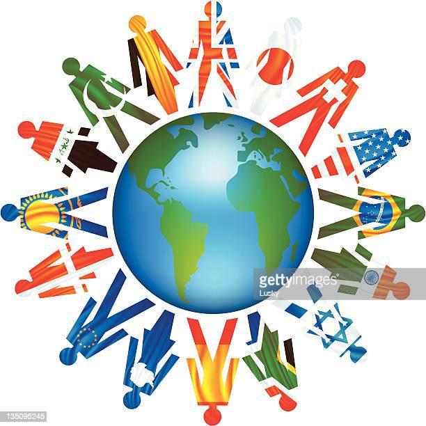 united earth - world politics stock illustrations
