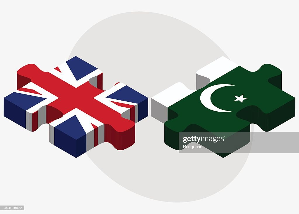 United Kingdom and Pakistan Flags