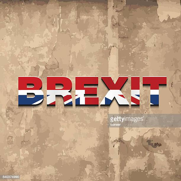 united kingdom brexit logo on grunge background - rot stock illustrations
